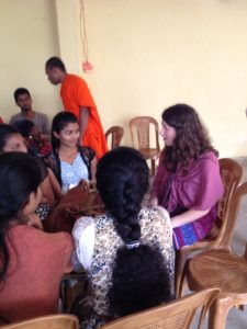 Helping with an English class in Sri Lanka